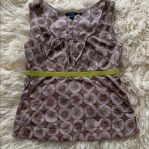 Boden Tank Size 10 Light Brown with Green Ribbon